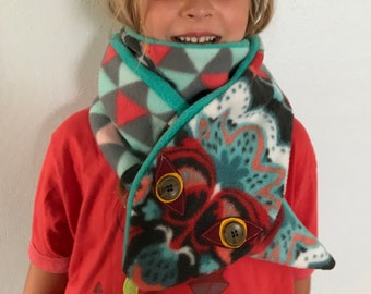 Kids Scarf Watercolor Pineapple Blue Scarves Winter Warm Shawl Wrap For Girls