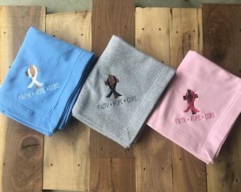 Cancer Faith* Hope* Cure Blanket