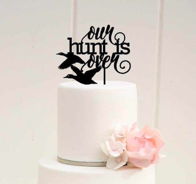 Custom Wedding Cake Topper Hunting Duck For