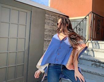 Breezy Linen Cotton Shirt Top - Reclaimed Vintage Fabrics