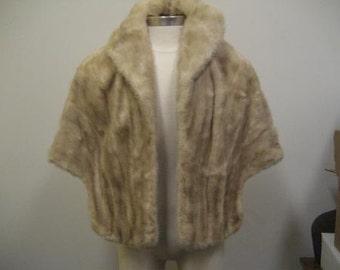Vintage Blonde Fur Stole
