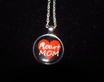 Heart Mom CHD Pendant Necklace