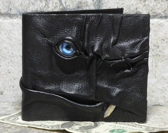 Leather Wallet Monster Face Fantasy Magic The Gathering Horror World Of Warcraft Zombie Fathers Day Gift Black 534