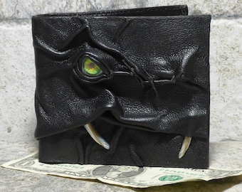 Leather Wallet Monster Face Fantasy Magic The Gathering Horror World Of Warcraft Zombie Fathers Day Gift Black 536