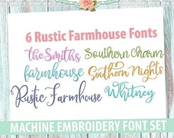 Farmhouse font | Etsy