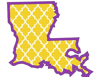 048c891f2d55d Louisiana Outline Applique Embroidery Design - Instant Download