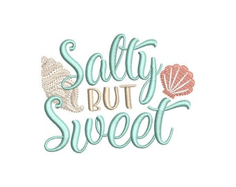 Salty but Sweet Beach Embroidery Design - Instant Download
