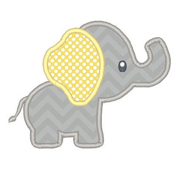 It is an image of Nerdy Free Printable Baby Elephant Template