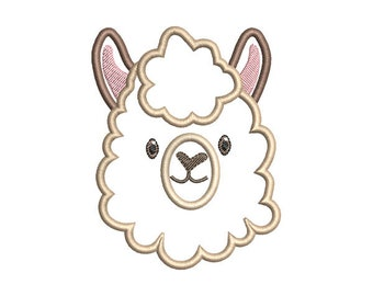 Llama Applique Embroidery Design- Instant Download