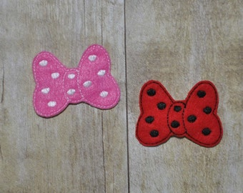 Feltie Bow Clip Cover Embroidery Design - Instant Download