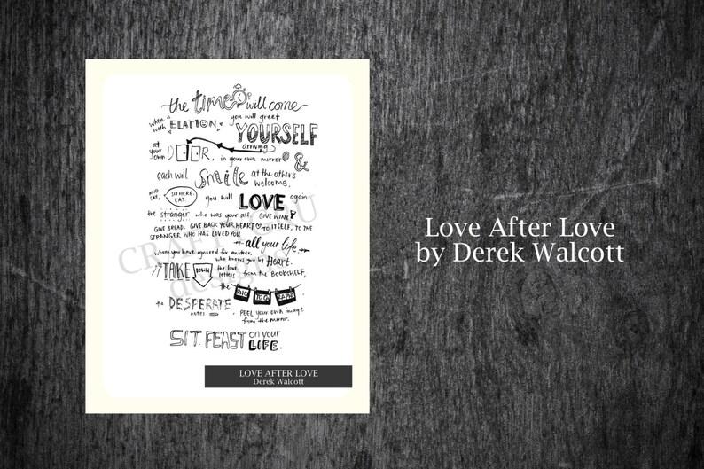 Citaten Over De Liefde : Hou na liefde door derek walcott instant downloaden citaten etsy