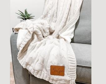 Monogram Blanket Etsy
