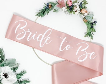 Satin Bachelorette Sash - Bachelorette Party - Bride To Be Sash -  Rose Gold Sash - Bridal Shower - Gift For Bride