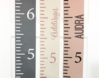 Growth Chart - Personalized Fabric Growth Chart - Growth Ruler - 1st Birthday gift - Height chart for Kids - Baby Shower Gift -New Baby Gift