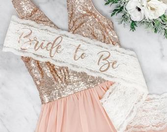 Lace Sash - Bride To Be Sash - Bachelorette Sash - Bachelorette Party - Bachelorette Party Sash - Bridesmaid Sash - Bride Gift -