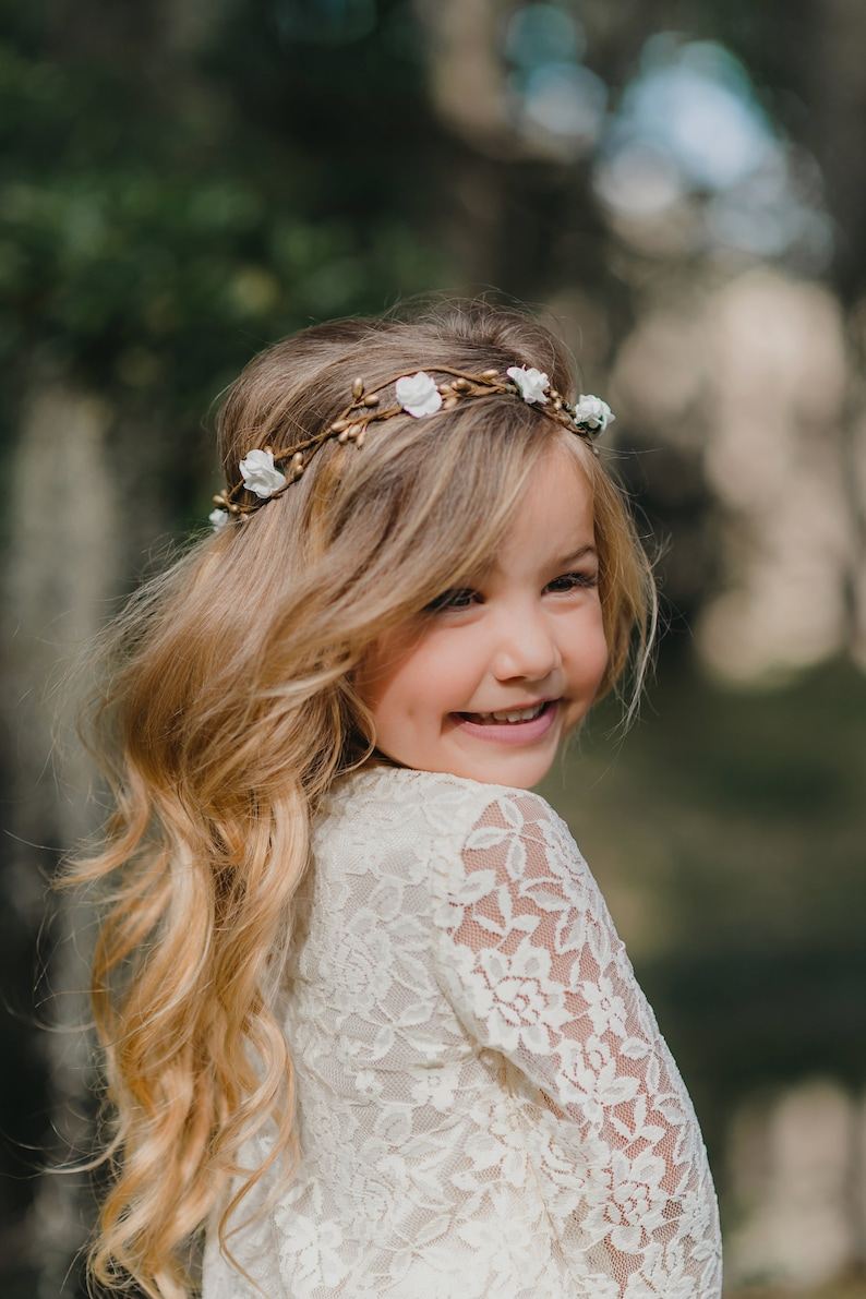 fd79b430058cb Child Flower Crown Flower Girl Flower Crown Wreath Bridal