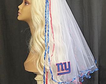 New York Giants Bachelorette Veil