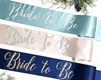 Satin Bachelorette Sash - Bride To Be - Bride To Be Sash - Bridal Shower Sash - Bachelorette Party - Gift for Bride