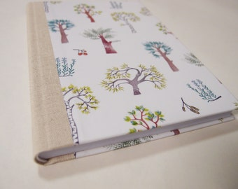 journal trees, blank, bound by hand, notebook handmade