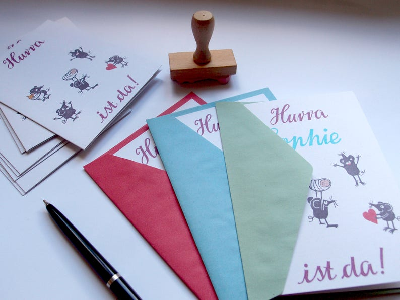 baby birth announcement cards /& stamps