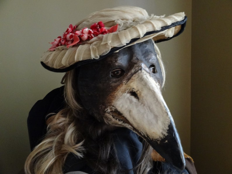 cf82faffcea28 Plague Doctor mask Paper mache mask crow mask raven mask | Etsy