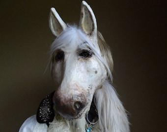 Animal mask Horse head mask paper mache horse mask horse costume