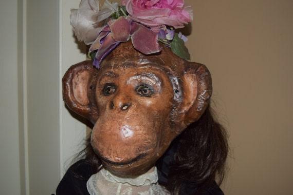 Papier-Tier Masken Affen Maske Affe Kostüm Pappmaché Affen | Etsy