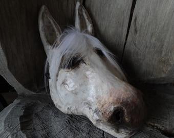 3D Mask Paper mache  Horse head mask horse costume