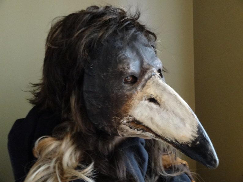 958bba9b2e159 Plague Doctor Mask Paper mache mask Crow mask raven mask | Etsy