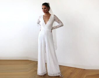 Wedding Jumpsuit Etsy