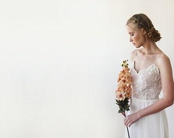 Premium Collection Delicate Handmade beaded Lace And Chiffon Wedding Dress e3dea88c3c0e