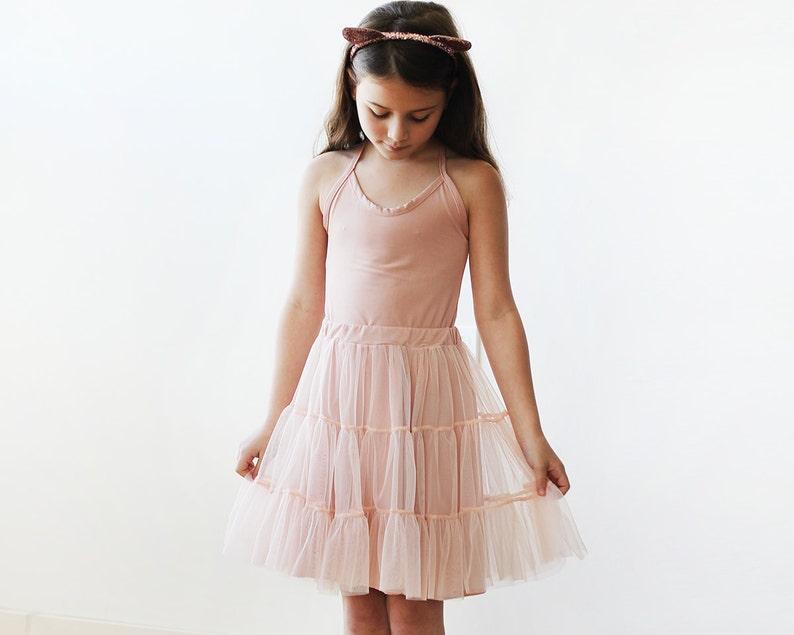 35339bdc7375 Blush pink tulle mini skirt Girls short tutu skirt 5013 | Etsy