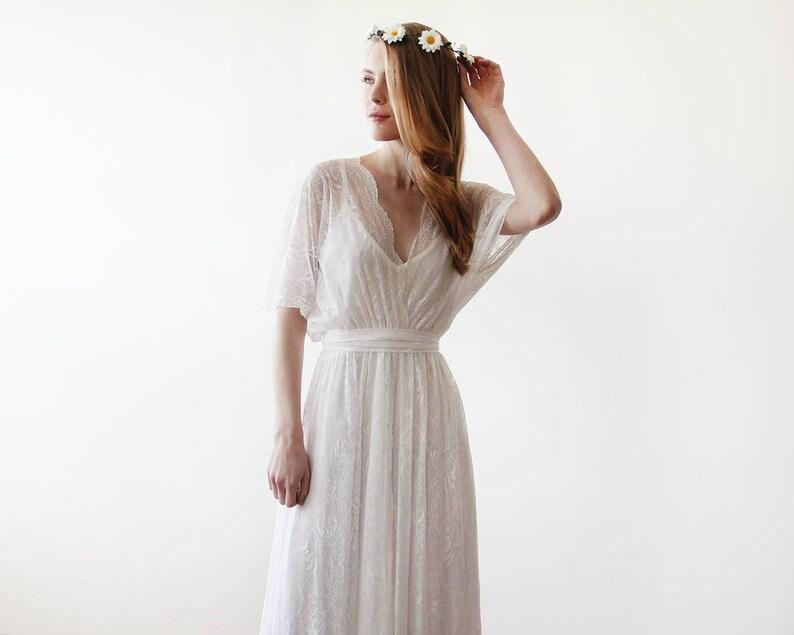 d44ff3eb337 Robe de mariée maxi 2 en 1 robe de mariée dentelle Ivoire