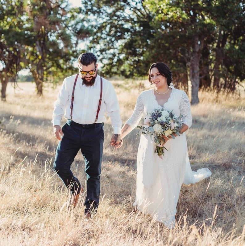 Kurve & Plus Größe Ärmel Spitze Brautkleid lange Ärmel image 0