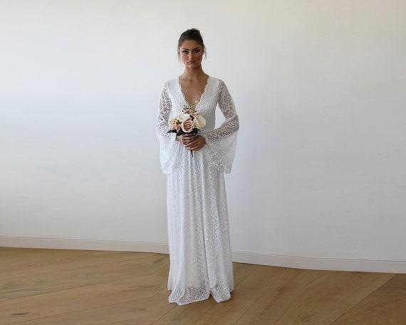 Robe de mariee manche evasee