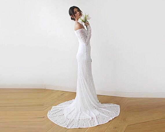 Cleavage Mermaid Wedding Dresses
