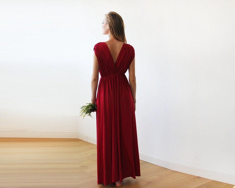 7230c6dc7ccbf9 Bordeaux Maxi vloerlengte jurk bruidsmeisjes rode lange jurk
