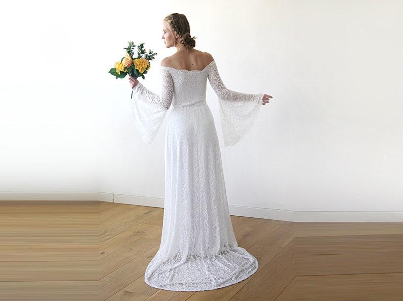 Off the Shoulder Elopement Dresses