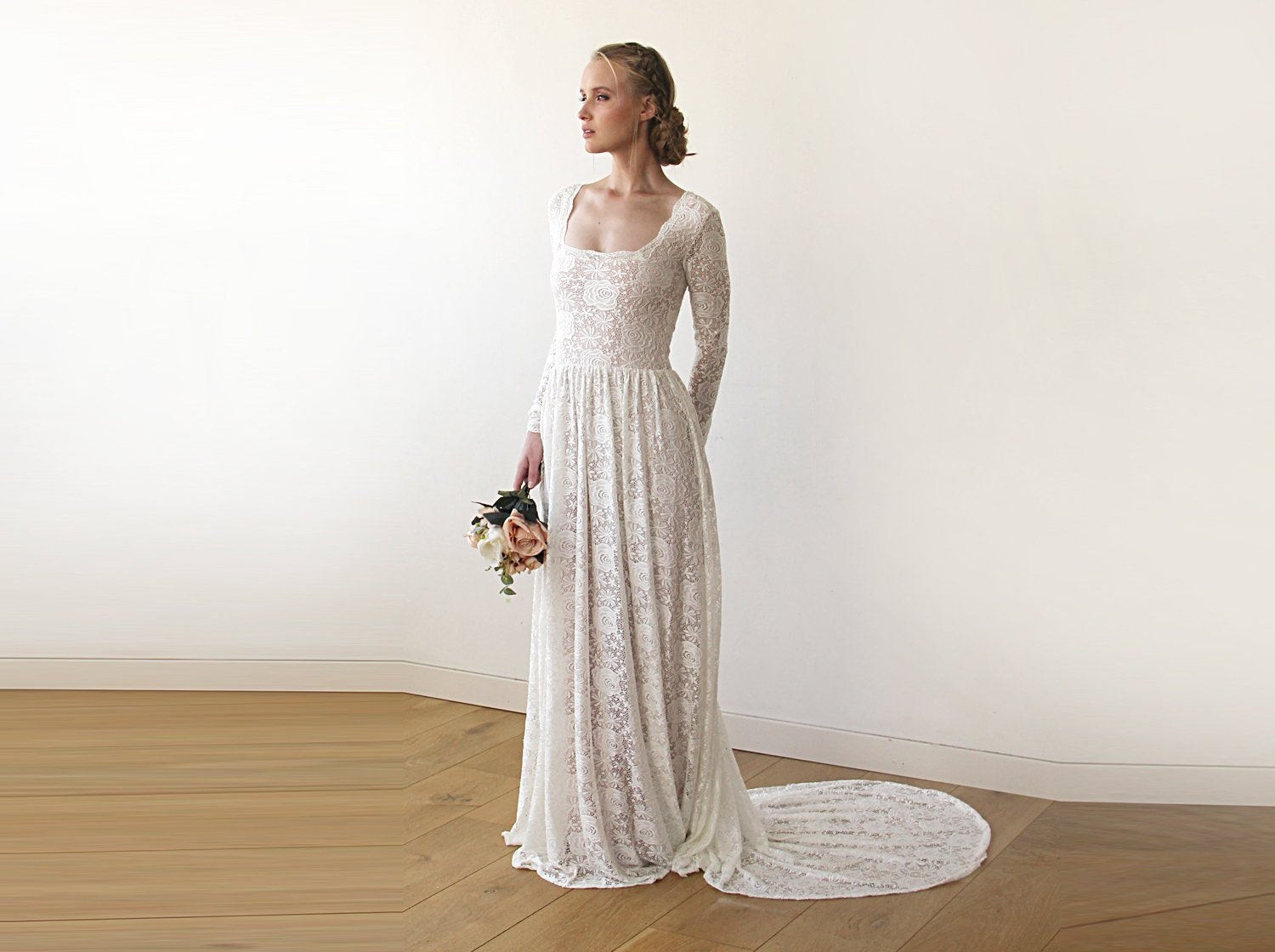 18ab9c1c8d Vintage Inspired Wedding Dress With Sleeves - Gomes Weine AG