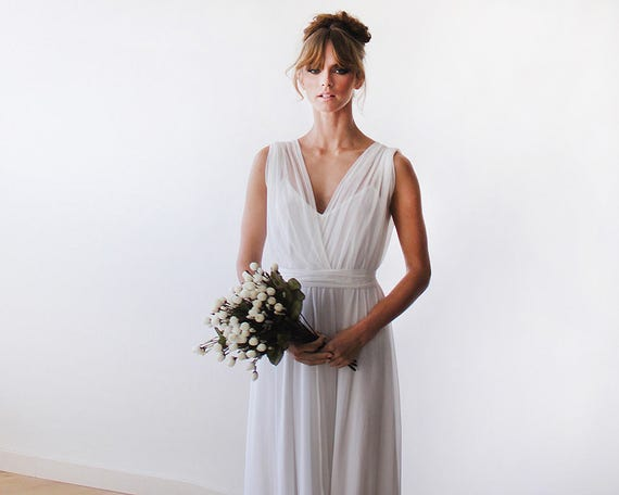 Ready to wear wedding gown 2 in one wedding gown Chiffon and