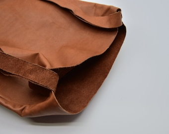 SALE: Double straps leather tote bag  (no returns)