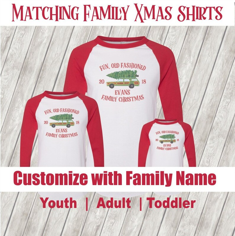 3a467823 Matching Family Christmas Shirt Custom & Personalized with | Etsy