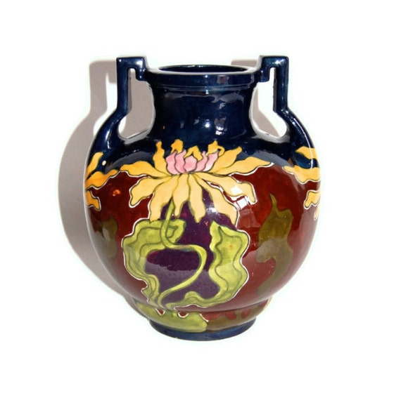 Folk Art Vase Austrian Amphora Old Moravian Antique Vases Etsy
