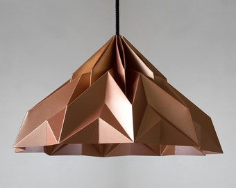 MAKE A WISH Origami Lampenschirm satin-copper