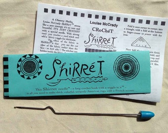 Shirret rug hook™ crochet tapestry needle of steel