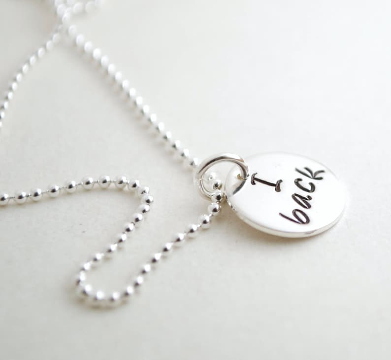 Cheerleading Gift Cheer Necklace I Base I Back Cheerleading Gift Cheer Jewelry Team Cheer Gift I Fly Hand Stamped Sterling Silver