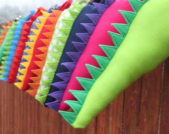 Set of 5 Fleece Dinosaur Dragon Tails Party Favor Variety