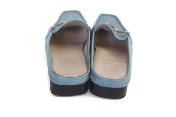 Vintage 90s Stuart Weitzman Blue Denim Mules - Si… - image 5