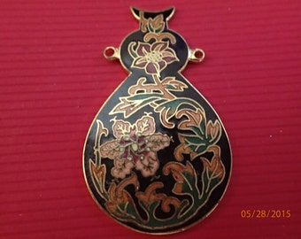Other Asian Antiques Antiques Chinese Cloisonné Foil Ginbari Butterfly Flowers Leaf Canister Jar Blue