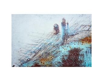 Turquoise roest auto art deco oude auto foto aqua sea etsy